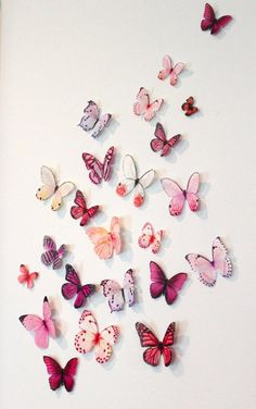 24 Cutes Butterfly Wall Decor For Kids Room Ideas