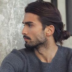 51 Best Short Haircuts for Men in 2019 - Style My Hairs Ponytail Hairstyles For Men, Man Ponytail, Haircuts For Long Hair, Hairstyle Look, Long Hair Cuts, Cool Haircuts, Haircuts For Men, Cool Hairstyles, Men Long Hair