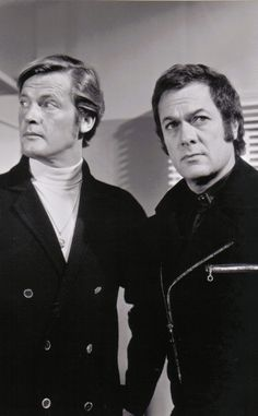 The Persuaders (Die Zwei) - Tony Curtis & Roger Moore - 1971. Great guys, tv series, dear memories, photo b/w.