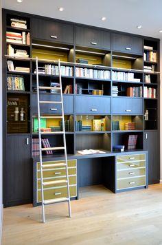 Camber - bibliothèque intégrant un bureau
