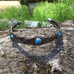 Horse Hair Bracelet W/ Turquoise Stones Worn a few times. Absolutely stunning piece. Jewelry Bracelets