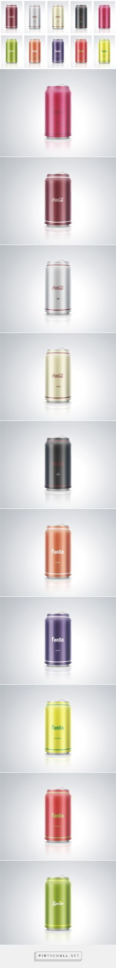 Coca-Colla, Sprite, Fanta – в лаконичном дизайне (Концепт) curated by Packaging Diva PD. Minimalist branded packaging design concepts.