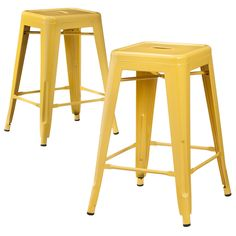 "• 24"" Tall<br>• Includes 2 barstools<br>• Metal<br>• Variety of colors<br><br>This Carlisle 24"" Metal Counter Stool set makes a perfect seating solution at your bar or breakfast counter. Each barstool has a convenient footrest. There are a variety of colors to choose from which make these stools easy to coordinate with any room."