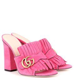 GUCCI Suede Sandals. #gucci #shoes #sandals