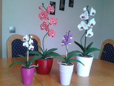 More crochet orchids ;).