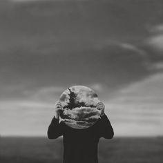 Testa e nuvole _