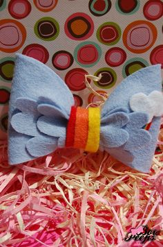 Rainbow Dash- Hair Bow - Made to Order
