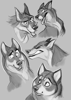 Dogs Art Illustration Artworks 32 Ideas For 2019 Animal Sketches, Animal Drawings, Art Sketches, Drawings Of Wolves, Sketch Drawing, Cartoon Drawings, Cool Drawings, Drawing Cartoon Animals, Draw Animals