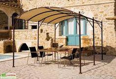 tonnelle adoss e en aluminium 3 5 x 4m avec toit coulissant en polycarbonate azura jardin. Black Bedroom Furniture Sets. Home Design Ideas