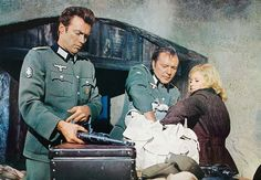 Clint Eastwood, Richard Burton, and Mary Ure in Where Eagles Dare (1968), directed by Brian G. Hutton.