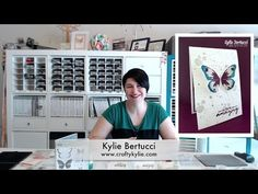 Stampin' Up! Australia: Kylie Bertucci Independent Demonstrator: NEW VIDEO: Watercolor Wings Card and the Glitter Splatter Techqnique
