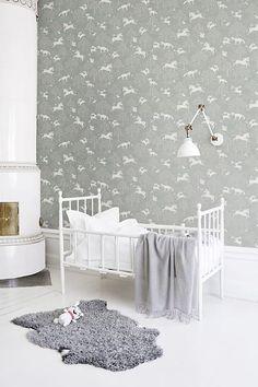 Fairytale fox Dusty Blue, Sweet Dreams My Love, Pet Bottle, New Wallpaper, Nursery Room, Baby Room, Fairy Tales, Kids Room, Aqua