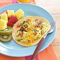 Quick Breakfast Burritos   CookingLight.com #myplate #vegetables #protein