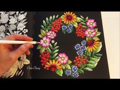 The Garden | BLOMSTERMANDALA Coloring Book | Coloring With Colored Pencils - YouTube