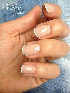 Cute short nails #mani #manicure -short nails -real nails #nails - nail polish - sexy nails - pretty nails - painted nails - nail ideas - mani pedi - French manicure - sparkle nails -diy nails