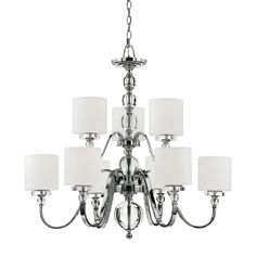 Quoizel Downtown Two Tier 9-Light Chandelier - Overstock™ Shopping - Great Deals on Quoizel Chandeliers & Pendants