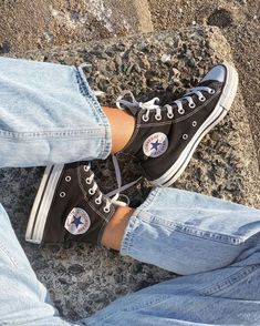 Converse Chuck Taylor All Star High-Top Sneakers - Unisex Sizing-JCPenney Dr Shoes, Hype Shoes, Sock Shoes, Me Too Shoes, Converse Haute, Mode Converse, Black Converse Outfits, Converse Style, Black High Top Converse