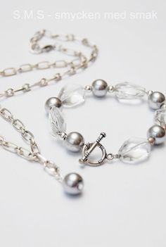 Pearls for Girls Armband Svart med vit pärla  81d01600e549c