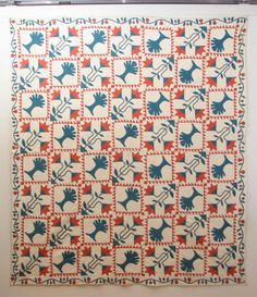 Antique Pieced and Applique Quilt:  Carolina Lily and Trees. image 2