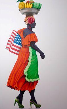 Serie inspirada en las mujeres del Caribe Colombiano Art Pics, Art Pictures, Jamaican Art, African Paintings, Caribbean Art, Afro Art, Scarf Styles, Black Art, Art Lessons