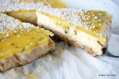 Cheesecake met mango en passievrucht - Mind Your Feed
