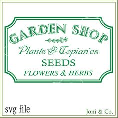 Garden sign svg Instant digital download for crafts and hobbies. Welcome,  Thank you for visiting the shop and having a look at the original artwork offered here.  This is an instant download of a SVG file to be used for cutting vinyl among many other uses. This file makes great greeting cards and signs.  WHAT YOU WILL RECEIVE  Your svg file will be in a zip folder for download.  A download link will be emailed to you just a few minutes after your purchase. You will also be able to access…