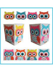 New in Plastic Canvas - Hootiful Owl Decor. Now buyable at Annie's (anniescatalog.com)