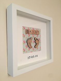 Details about 💖Personalised New Baby, Birth, Christening, Boy & Girl Frames Gift/Keepsake - Everything For Babies Scrabble Tile Crafts, Scrabble Frame, Scrabble Art, Christening Gifts For Boys, Christening Frames, Boy Christening, Box Frame Art, Cuadros Diy, Baby Frame