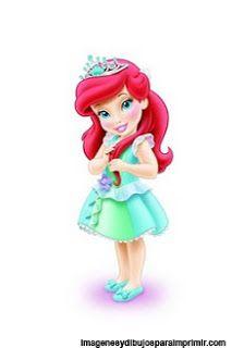 Princesas disney bebes para imprimir-Imagenes y dibujos para imprimir