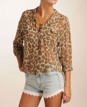 Free People Leopard Print Blouse
