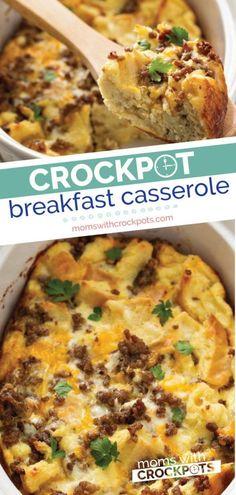 Healthy Breakfast Casserole, Breakfast Crockpot Recipes, Healthy Crockpot Recipes, Best Breakfast, Casserole Recipes, Gourmet Recipes, Casserole Dishes, Breakfast Skillet, Lunch Recipes