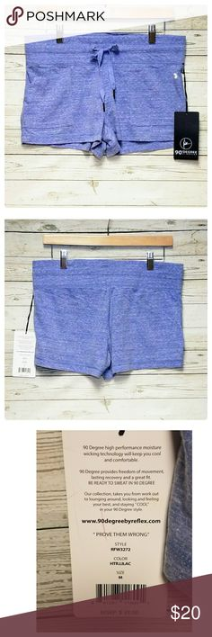 """90 Degree by Reflex Lilac Shorts New with tags. Side pockets. Color Lilac. Approximate measurements laying flat: inseam 2.5""""  FR 9"""", BR 14"""", waist 16"""". Ties at waist. 90 Degree By Reflex Shorts"""
