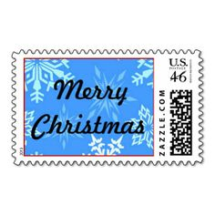 Merry Christmas Snowflakes Postage Stamps