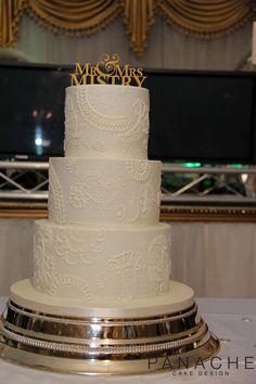henna cake pretty wedding cake weddingcakes London handpiped royalicing white on white cake topper elegant simple subtle design contemporary