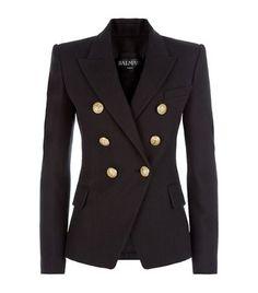 BALMAIN Classic Woven Blazer. #balmain #cloth #