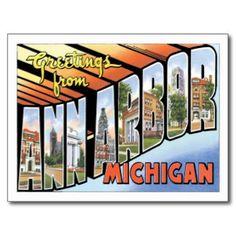 Ann Arbor Michigan MI Postcard