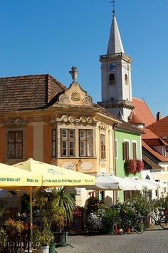 Buildings on the main square, Rust ( Hungarian: Ruszt ) on the Neusiedler See, Burgenland, Austria Jessica Rose, Visit Austria, Heart Of Europe, Central Europe, What A Wonderful World, Pictures Images, Homeland, Alps, Vienna
