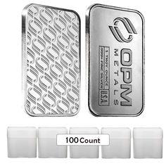 Lot of 100 - OPM (Ohio Precious Metals) 1 Troy Oz Silver Bar (5 Roll,Lot,Tube of