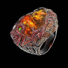 Lydia Courteille Fire Opal RingCayen Collection