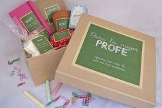 Pack de regalo de fin de curso para profesores. Lleno de mensajes y cosas bonitas