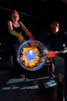 Chrysler museum.  Glass Blowing