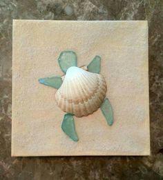 Beach Glass art Projects - Sea Glass art On Wood - - Glass art Videos DIY - Sea Glass art Anchor Sea Glass Crafts, Sea Crafts, Sea Glass Art, Stained Glass Art, Sea Glass Jewelry, Sea Turtle Crafts, Sea Glass Decor, Sea Glass Mosaic, Sea Life Crafts