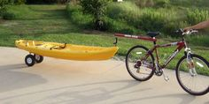 Dumb Stick Kayak Bicycle Tow Bar allows you to easily tow your kayak with your bicycle. #1 kayak bicycle tow bar in the world since 1995