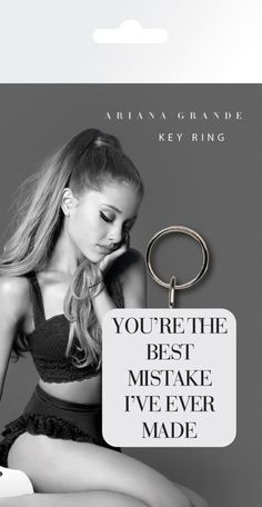 Ariana Grande - Best Mistake - Rubber Key Ring. Metal chain. Officially licensed product. FREE SHIPPING.