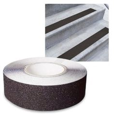 Low Vision Anti Slip Tape Black, can be placed on steps to prevent falls among low vision population