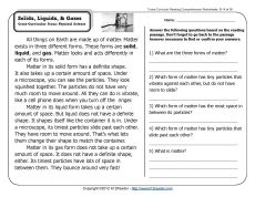 Reading comprehension passage on solids liquids gases Reading Skills, Teaching Reading, Teaching Ideas, Reading Workshop, Guided Reading, Teaching Tools, Learning, 2nd Grade Reading Comprehension, Reading Passages