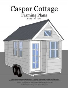 caspar cottage tiny home on wheels the tiny house plans - Tiny House Plans On Wheels Free