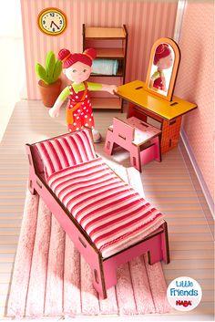 Little Friends – Puppenhaus-Möbel Beauty-Ecke (Artikelnummer 300510)