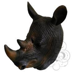 Latex Full Head Animal Safari Rhino High Quality Fancy Dress Up Carnival Masks #halloween #latex #blackcrow   http://stores.ebay.co.uk/state-of-latex
