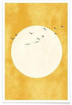 A Thousand Birds Poster Painting Inspiration, Art Inspo, Decor Inspiration, Images Murales, Art Minimaliste, Minimal Art, Bird Poster, Poster Poster, Kunst Poster